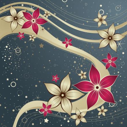 Vector-Red-Silk-Flower-Design-04-by-DragonArt